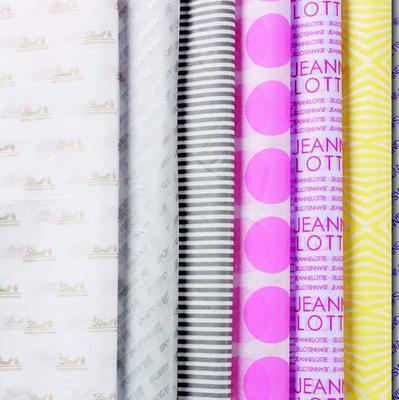 tissue paper ribbon labels