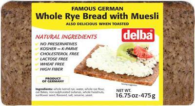 Delba Whole Rye Bread with Muesli | Product Marketplace