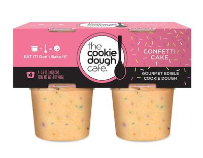 Gourmet Edible Confetti Cake Cookie Dough 4 Pack