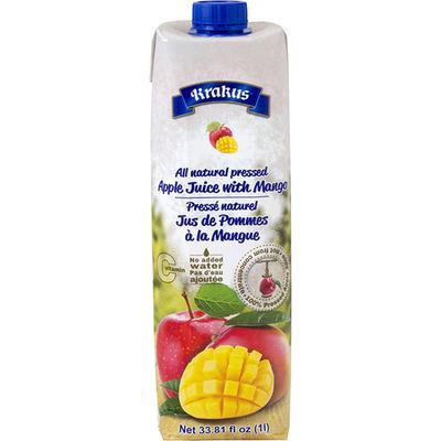 Krakus All Natural Pressed Apple Juice With Mango 33 81 Fl