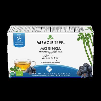 Organic Moringa Tea, Blueberry, 25 Count   Product Marketplace
