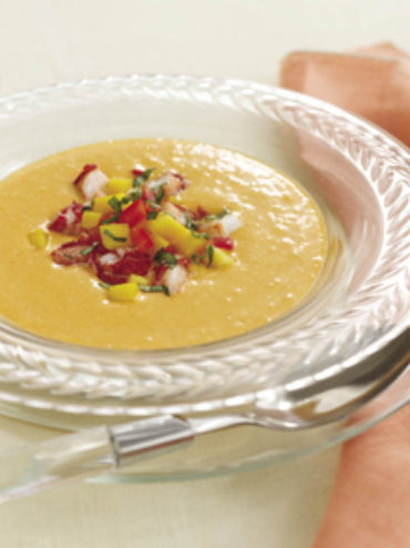 Cold Thai-Style Mango Coconut Soup With Mango Relish Recipes ...