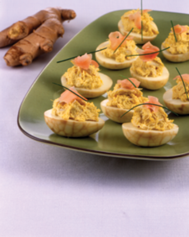 Thousand-Year-Old Deviled Eggs and Crab