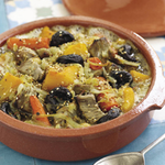 Lamb Tagine with Prunes, Butternut Squash and Chickpeas