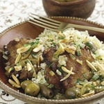 Chicken Tagine with Green Olives and Preserved Lemon