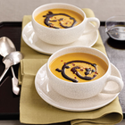 Creamy Pumpkin-Coconut Soup with Spiced Oil Drizzle