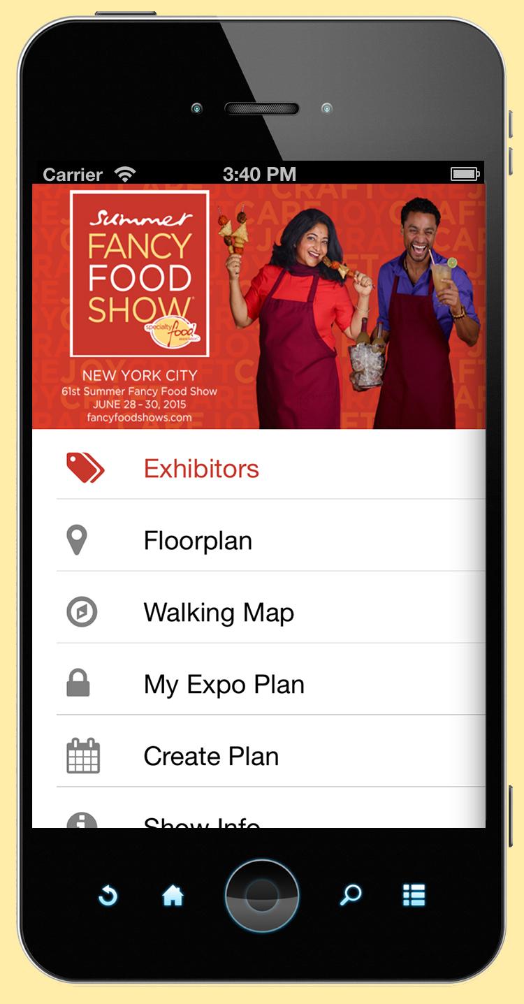 Fancy Food Show Mobile App