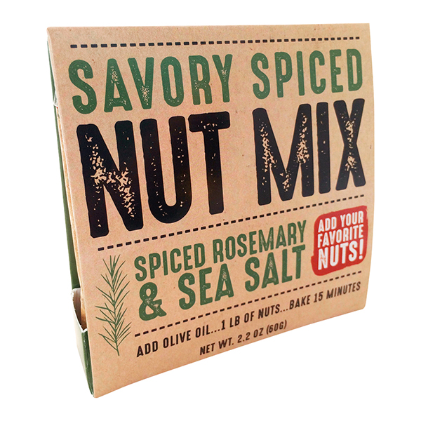 Rosemary And Sea Salt Nut Mix. Backyard Safari Company