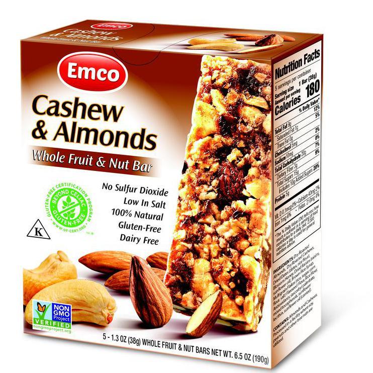 Whole Fruit, Cashews, and Almond Bars | Product Marketplace