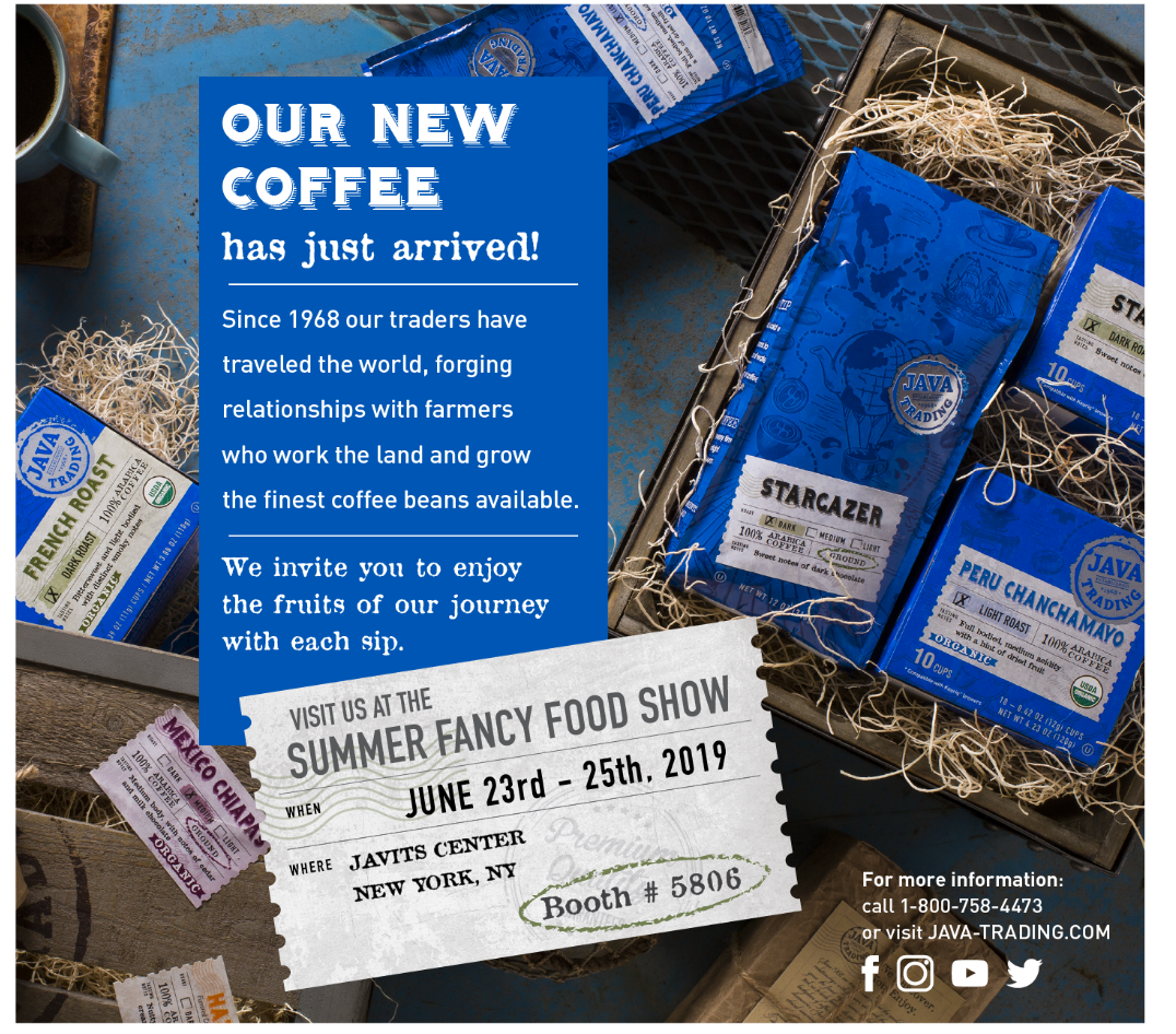 Java Trading Company to Present New Coffee Line at the Summer Fancy